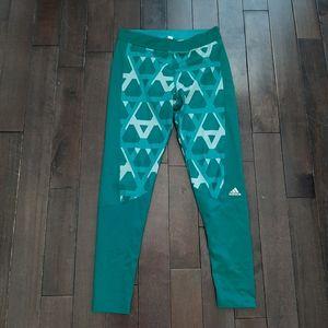 Adidas geometric full length leggings
